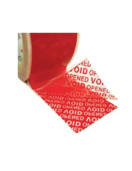 Tamper Evident Box Security Tape reviling adhesive layer image