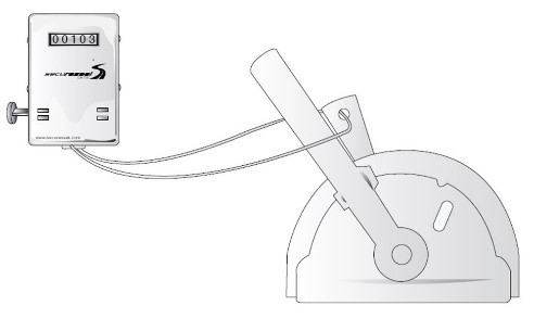 Secure Seal Data recording lever